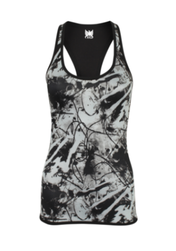 Phoenix Active - Ladies Reversible Black Print Workout Vest