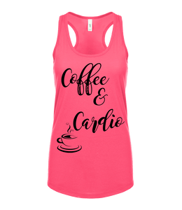 "Phoenix Active - Ladies ""Coffee & Cardio"" Racer Back Vest"