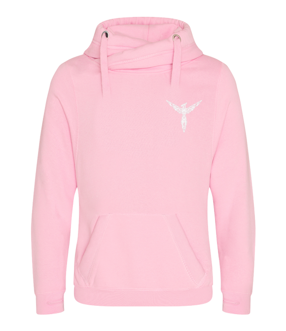 Phoenix Active - Oversized Cross-Neck Hoodie Geometric Phoenix Design