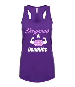 "Phoenix Active - Ladies ""Doughnuts & Deadlifts"" Racer Back Vest"