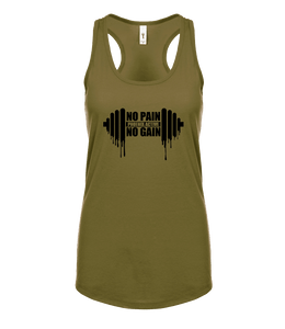 "Phoenix Active - Ladies ""No Pain No Gain"" Racer Back Vest"