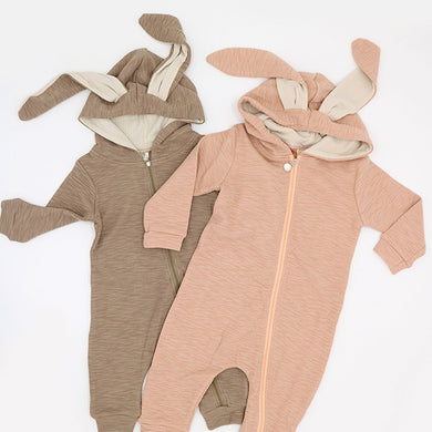 Bunny Ears Hoodie Romper Jumpsuit-Clothing-Teal Olive Designs