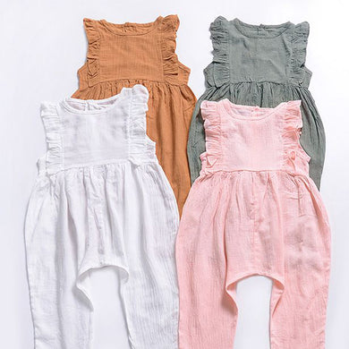 Ruffle Baby Jumpsuit Overalls