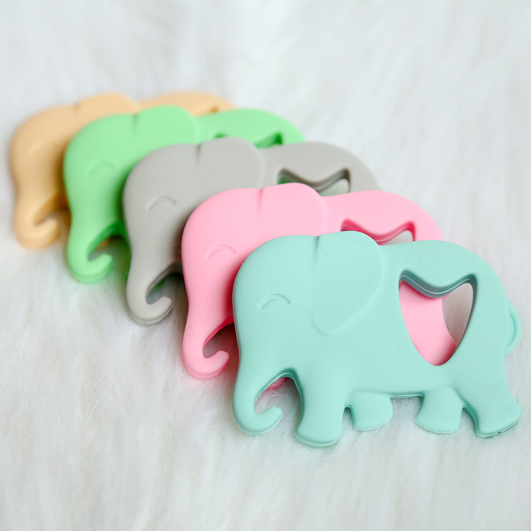 Elsie the Elephant Teether-Teether-Teal Olive Designs