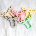 Deer/Moose Silicone Teether-Teether-Teal Olive Designs