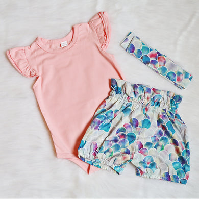 3-piece Mermaid Outfit Set