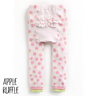 Baby Leggings - Apple Ruffle-Clothing-Teal Olive Designs