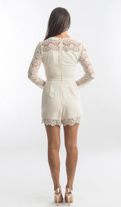 Zimmermann Crepe Lace Playsuit