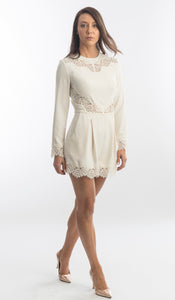 Zimmermann Pearl Lace Trim Playsuit
