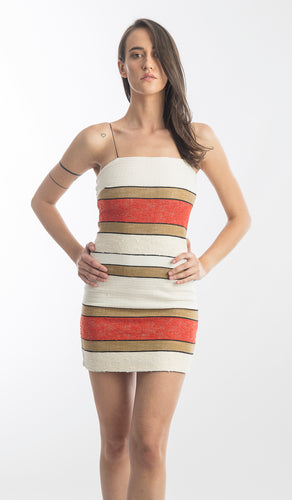 Bec and Bridge Goldie Multi Strip Mini Dress