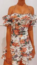 Load image into Gallery viewer, Zimmermann Allia Floral Print Pintuck Linen Dress Size 1/8