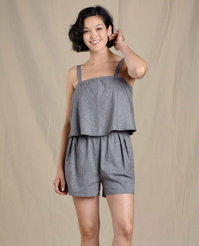 Taj Hemp Sleeveless Romper