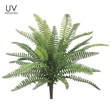 "19"" UV Protected Boston Fern Bush Green"