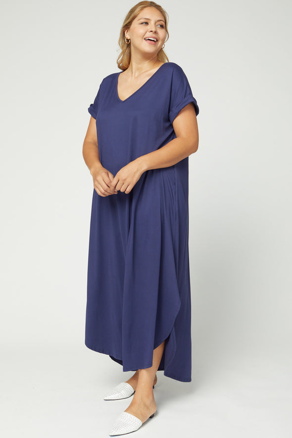 Dress w/ High-Low Hem