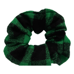Green Buffalo FLANNEL Scrunchie