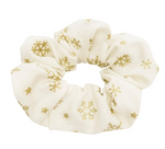 Gold Snowflakes Scrunchie