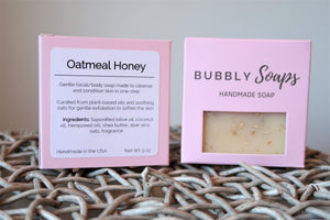 Oatmeal Honey Soap - Bubbly Soaps Soaps