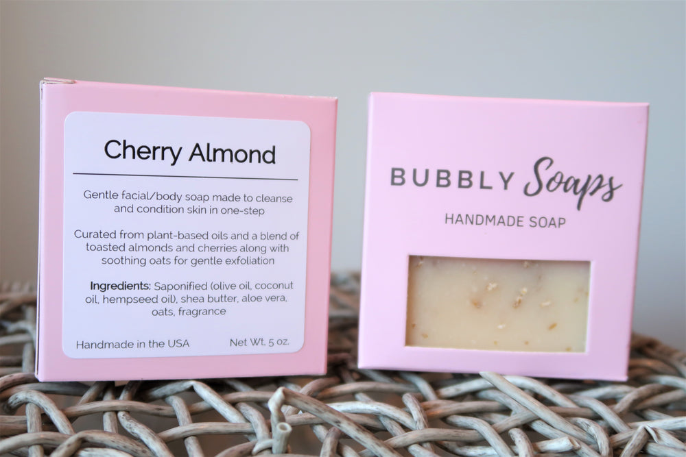Cherry Almond Soap - Bubbly Soaps Soaps