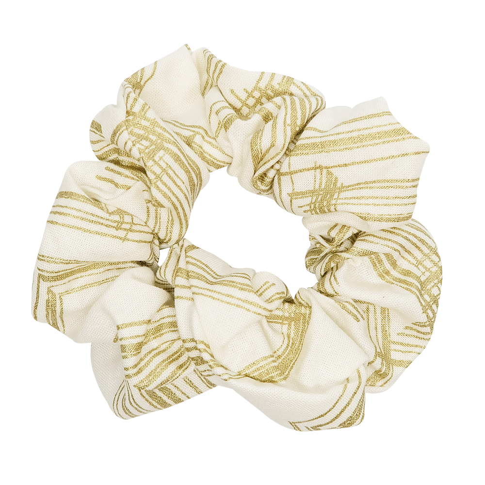 Gold Metallic Scrunchie