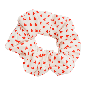 White Hearts Scrunchie - Bubbly Soaps