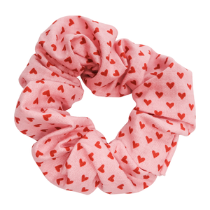 Pink Hearts Scrunchie - Bubbly Soaps