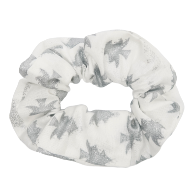 Silver Holiday Trees Scrunchie