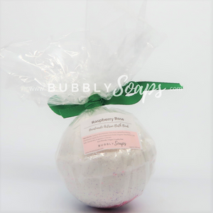 Raspberry Rose Artisan Bath Bomb - Bubbly Soaps Bath Bomb