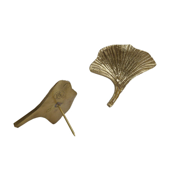 Flora Gingko lotus brass candle pin | Doing Goods