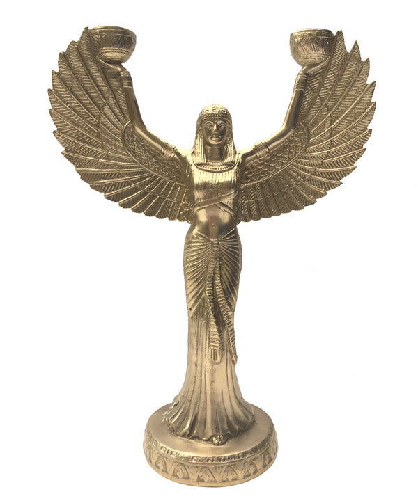 Phoenix Brass Candle Holder by Doing Goods