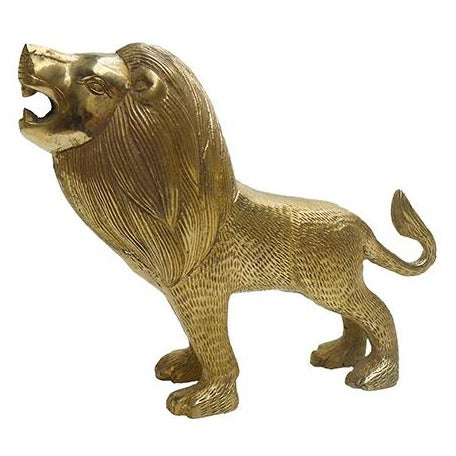 Laurence Standing Brass Lion | Doing Goods