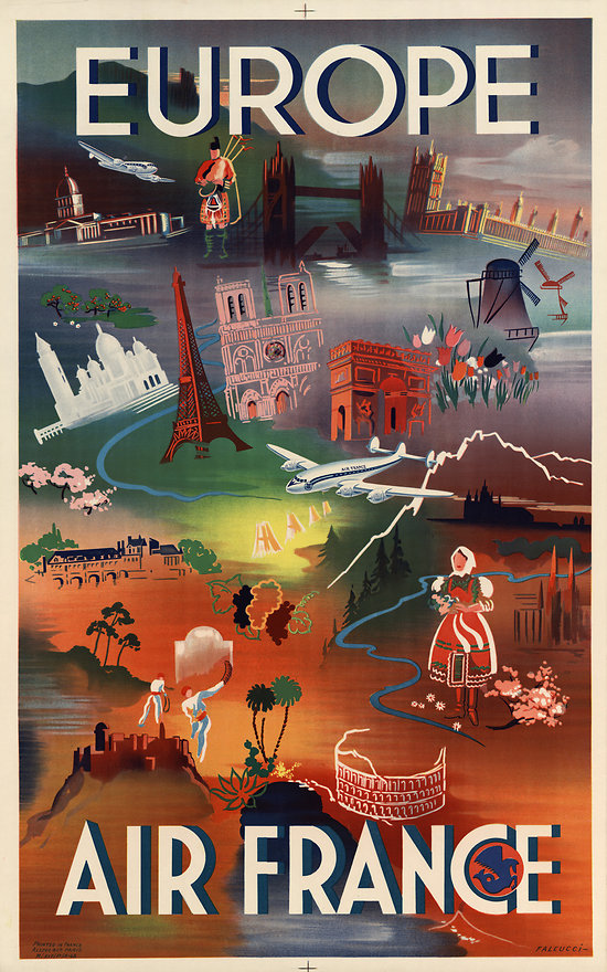 Travel Poster - Air France Europe