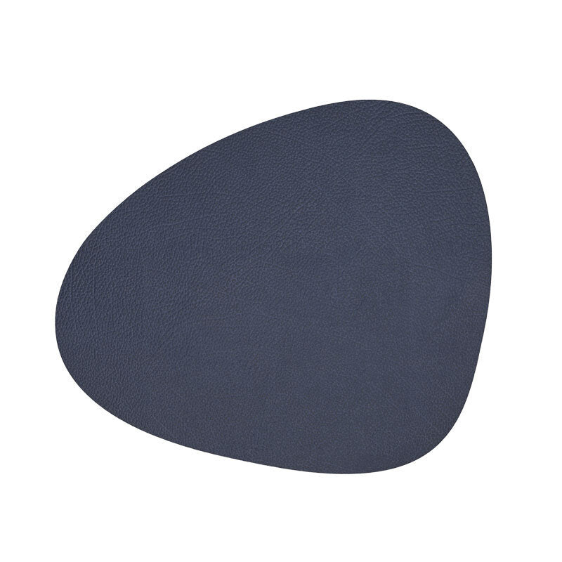 Hippo Curve Placemat & Coaster - Navy Blue