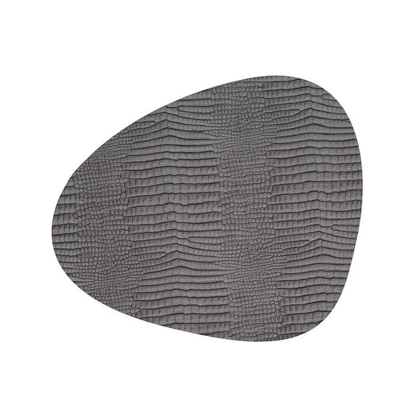 Grey Croco Leather Placemat