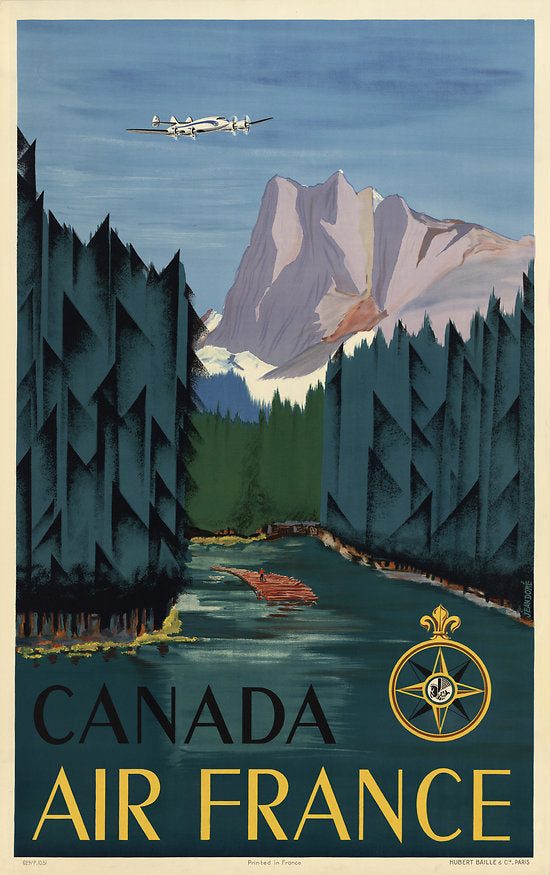 Travel Poster - Air France Canada