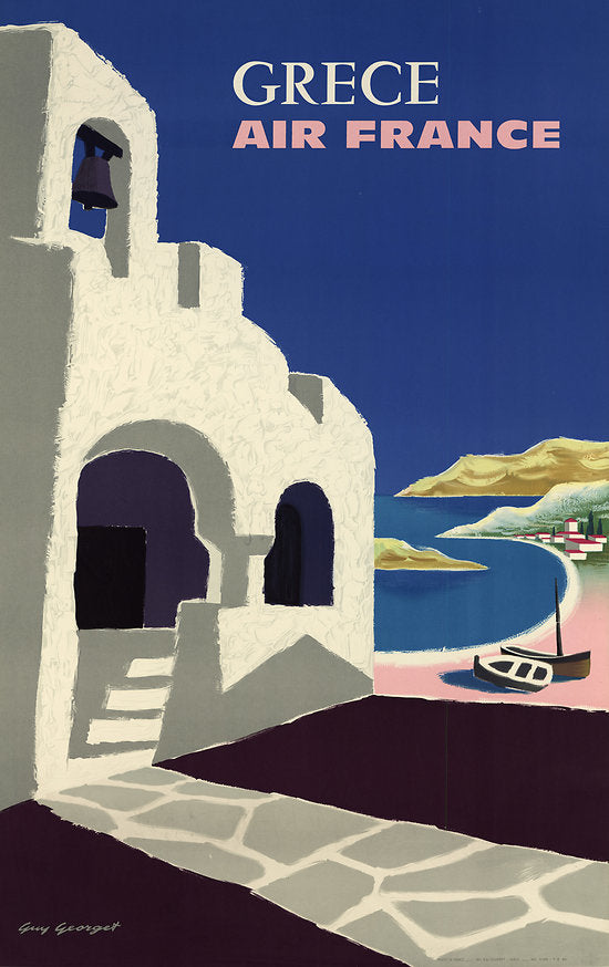 greece air france travel poster