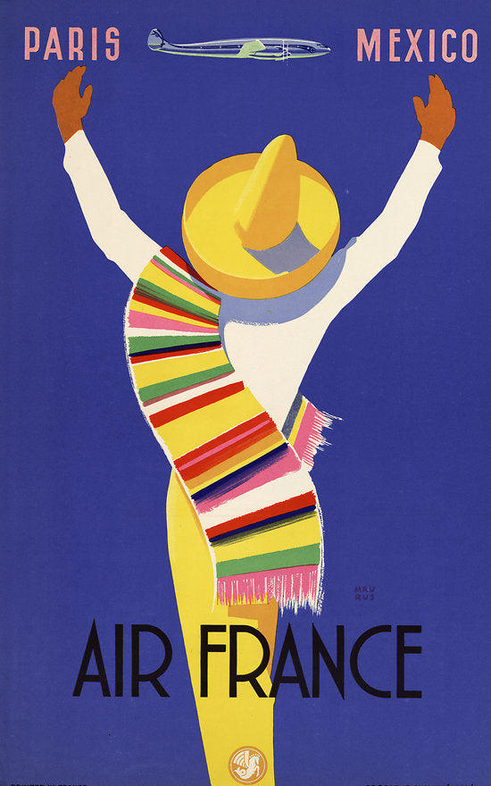 Travel Poster - Air France Paris > Mexico