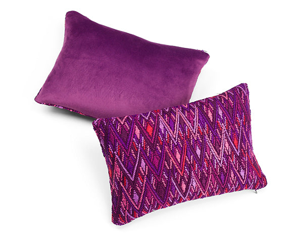 S.Maria PurpleMulti Embroidered Cushion | Tone Textiles