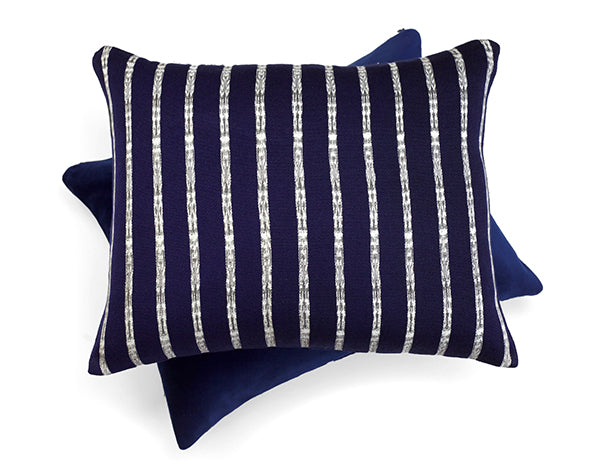 Patzum Navy Blue Jaspe Cushion | Tone Textiles
