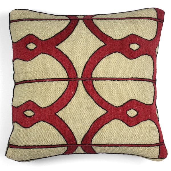Embroidered Kilim Pillow N. 4 | Les Ottomans