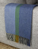 Stripe Multi-Color Throw - Blue