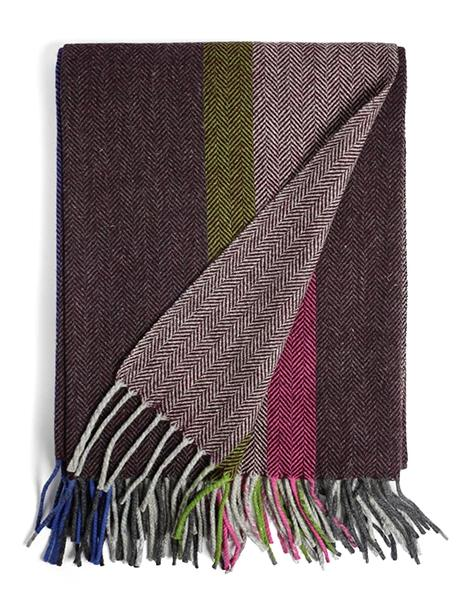 Mantecas Multi-Color Throw Blanket in Bordeaux | Burel