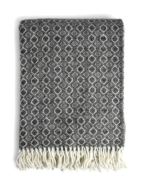Havanna Throw Blanket in Grey | Klippan