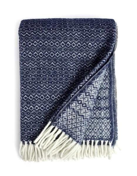 Hekla Throw Blanket in Dark Denim | Klippan