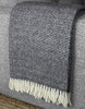 Hekla Throw Blanket in Dark Grey | Klippan