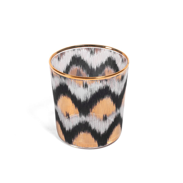 Ikat Black & Gold Tealight