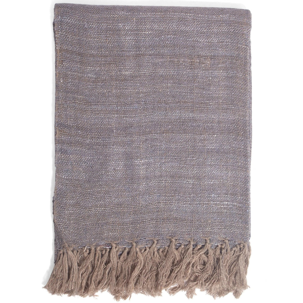 Bergo Linen Throw in Grey