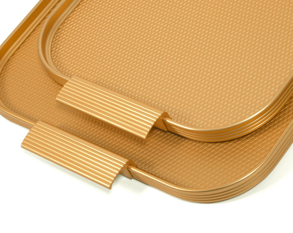 Kaymet Gold Ribbed Tray
