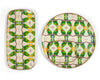 Green parrot trays by PatchNYC | Les Ottomans