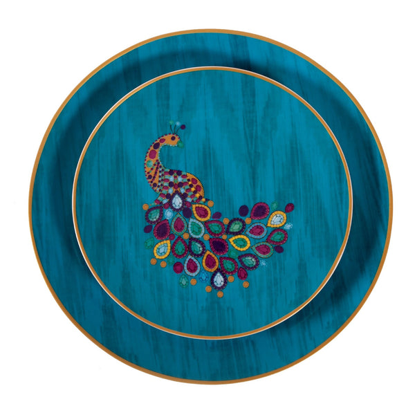 Peacock Ceramic Decorative plates by matthew williamson