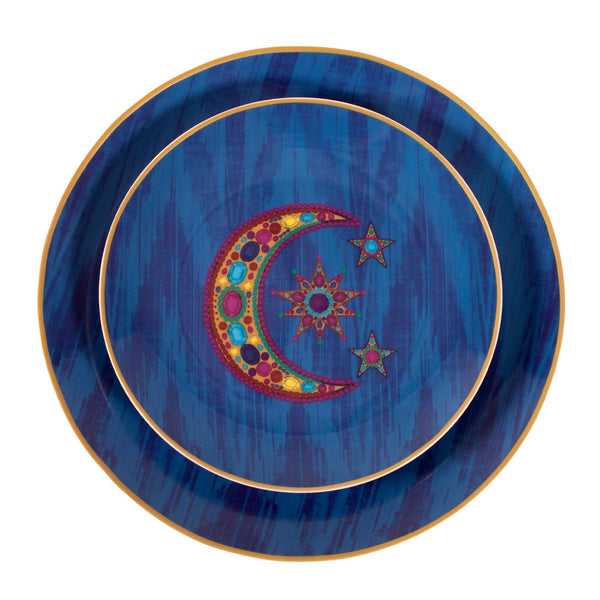 Moon & Stars Ceramic Decorative Plates